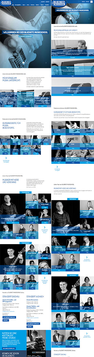 Webdesign und Website bluenotemusicschool.de