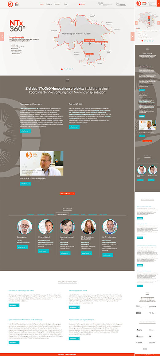 Webdesign und Website ntx360grad.de