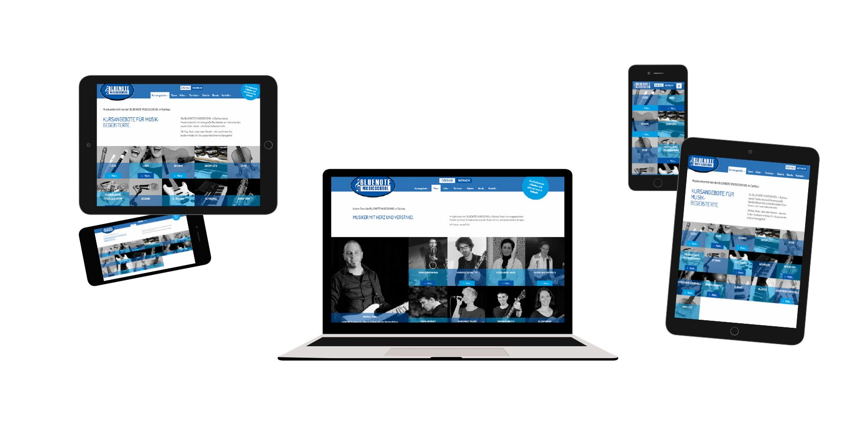 Bluenotemusicschool in Dachau und Aichach Website